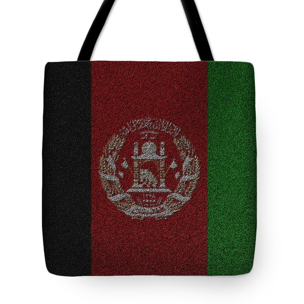 Tote Bag featuring the digital art Flag Of Afghanistan by Jeff Iverson