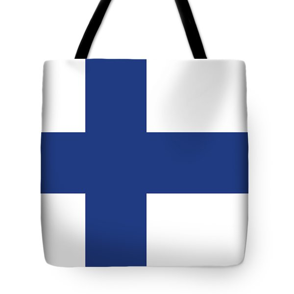 Tote Bag featuring the digital art Flag Of Finland by Bruce Stanfield