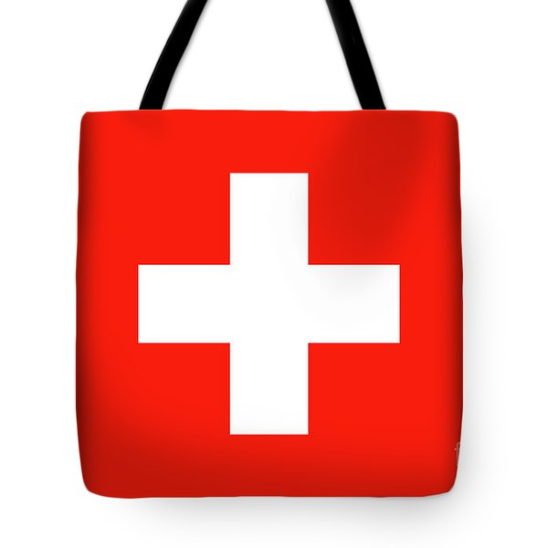 Tote Bag featuring the digital art Flag Of Switzerland by Bruce Stanfield
