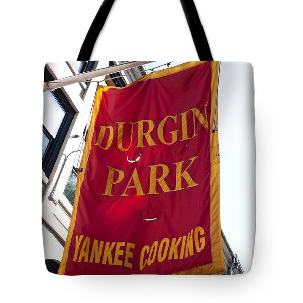 Flag Of The Historic Durgin Park Restaurant Tote Bag