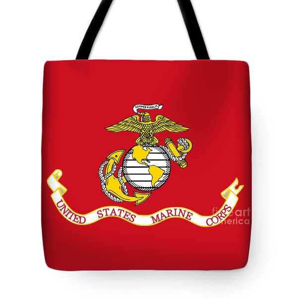 Flag Of The United States Marine Corps Tote Bag by Pg Reproductions