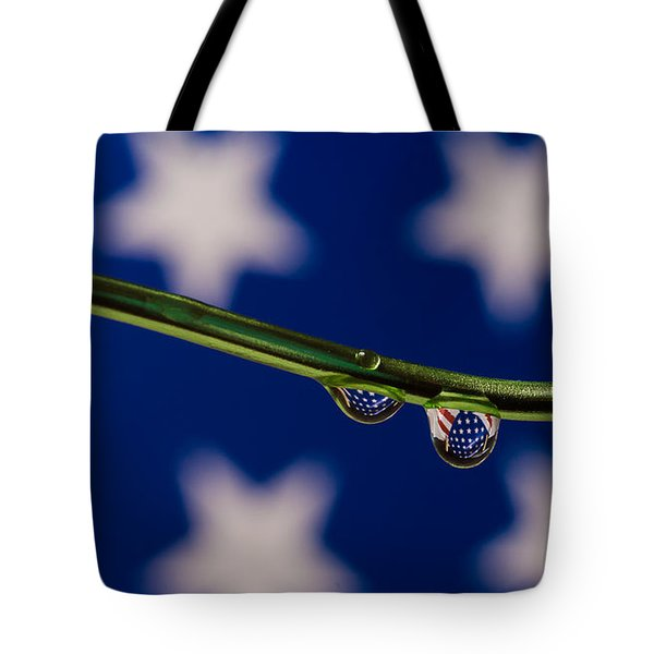flag on a Wire Tote Bag