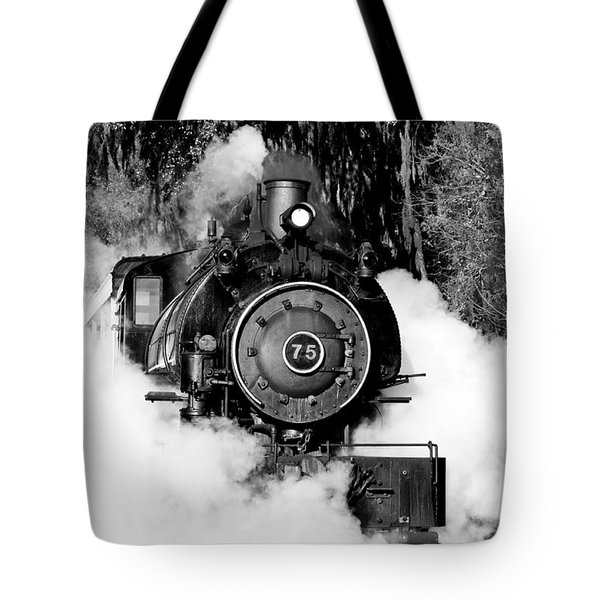 Flagg Coal Steam Engine Tote Bag