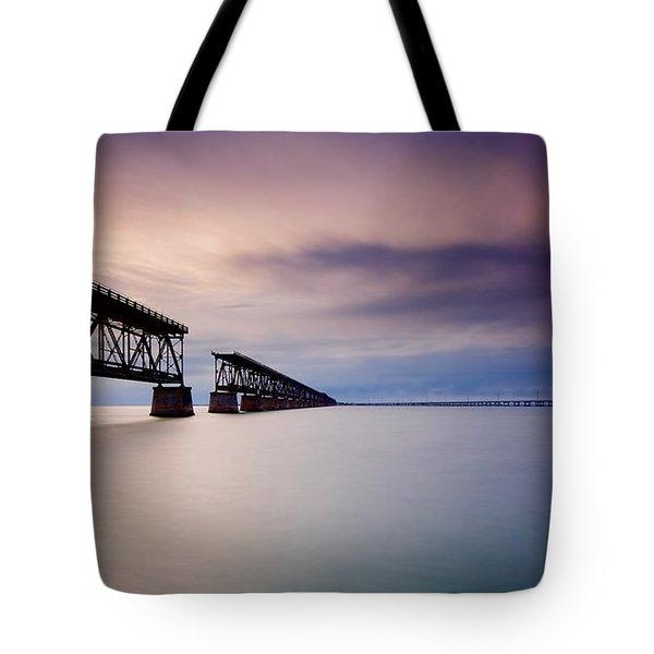 Flagler Bridge Bahia Honda Tote Bag