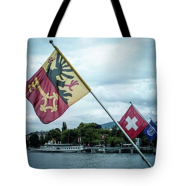 Flags & Ferry Tote Bag