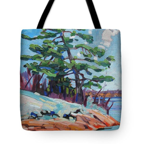 Flags And Contrails Tote Bag