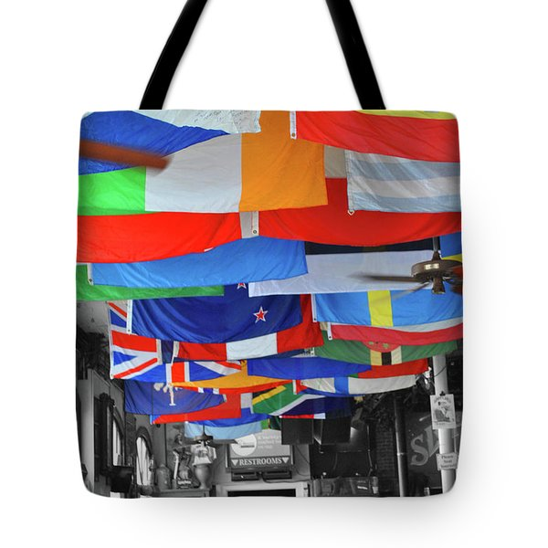 Tote Bag featuring the photograph Flags Of Sloppy Joes by Jost Houk