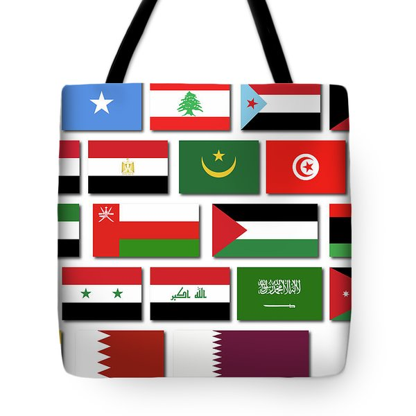 Flags Of The Arab League Tote Bag