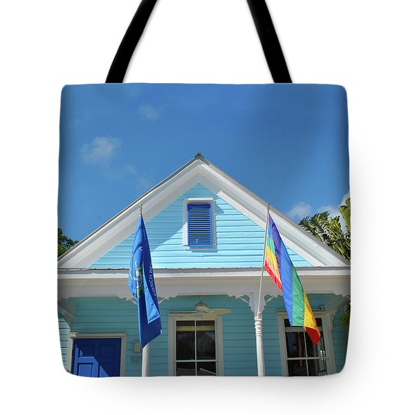 Tote Bag featuring the photograph Flags Of The Keys by Jost Houk