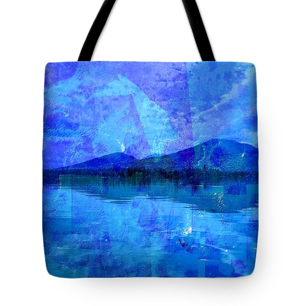 Flagstaff Lake Blu Tote Bag