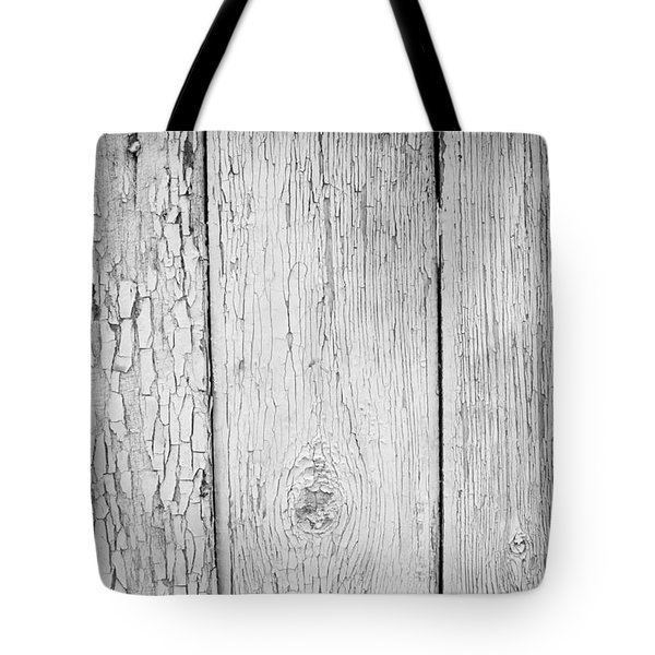Tote Bag featuring the photograph Flaking Grey Wood Paint by John Williams
