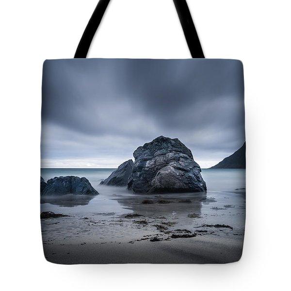 Flakstad Beach Tote Bag