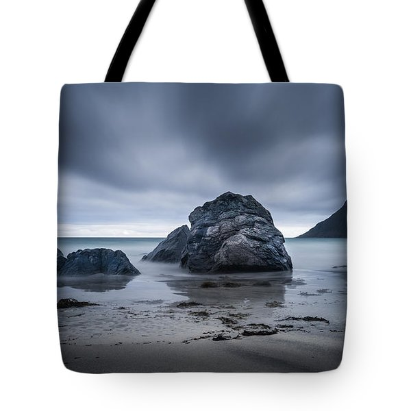 Tote Bag featuring the photograph Flakstad Beach by James Billings