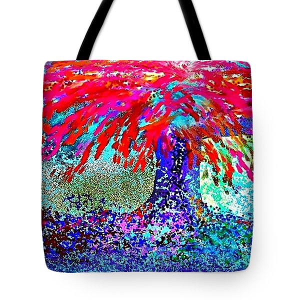Tote Bag featuring the painting Flamboyan by The Art of Alice Terrill