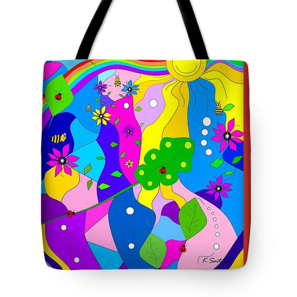 Flamboyant Lion Tote Bag by Kathleen Sartoris