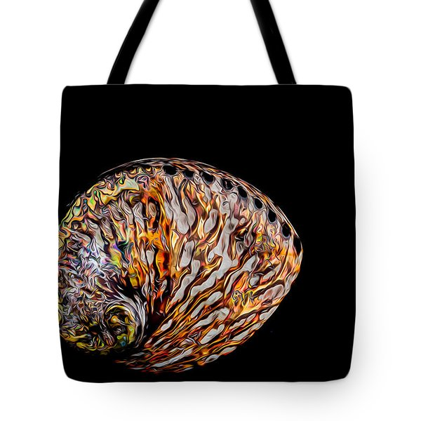 Flame Abalone Tote Bag by Rikk Flohr