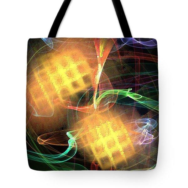 Tote Bag featuring the digital art Flame Art 2 by Maciek Froncisz