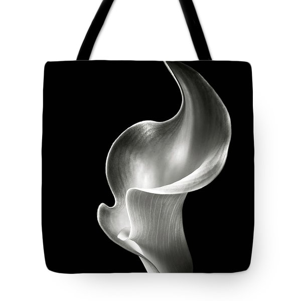 Flame Calla Lily In Black And White Tote Bag