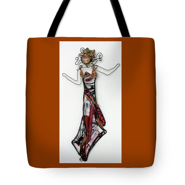 Flame Dancer Tote Bag by Maxine Grossman