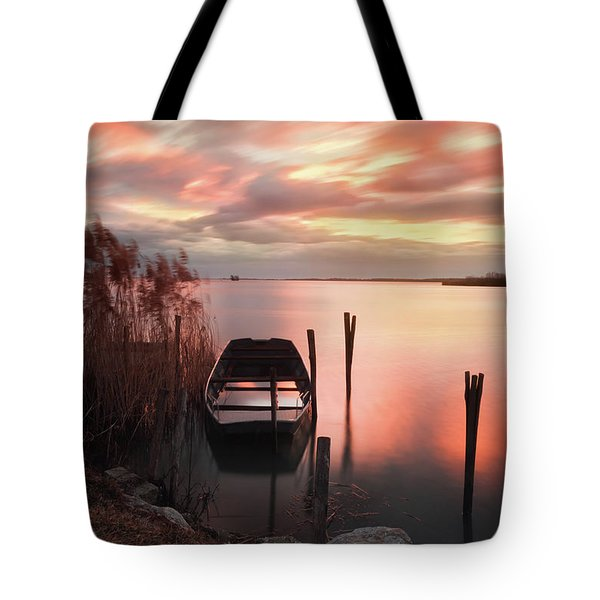 Tote Bag featuring the photograph Flame In The Darkness by Davor Zerjav