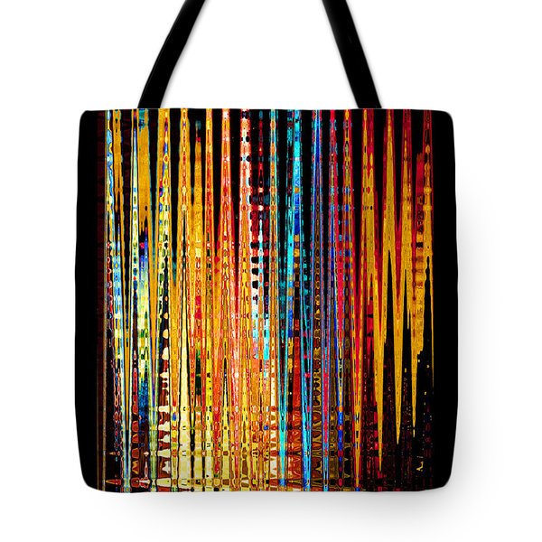 Tote Bag featuring the digital art Flame Lines by Francesa Miller