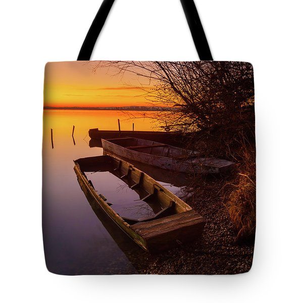 Tote Bag featuring the photograph Flame Of Dawn by Davor Zerjav