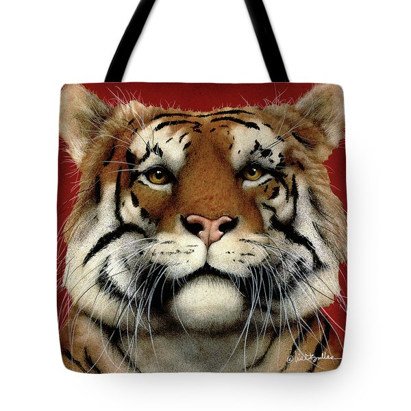 Tote Bag featuring the painting flame of India ... by Will Bullas