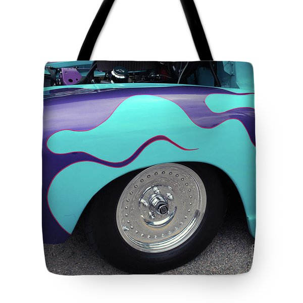 Tote Bag featuring the photograph Flame Paint Job by Bill Thomson