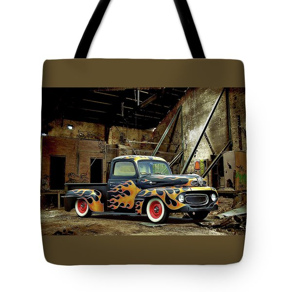 Flamed Pickup Tote Bag by Steven Agius