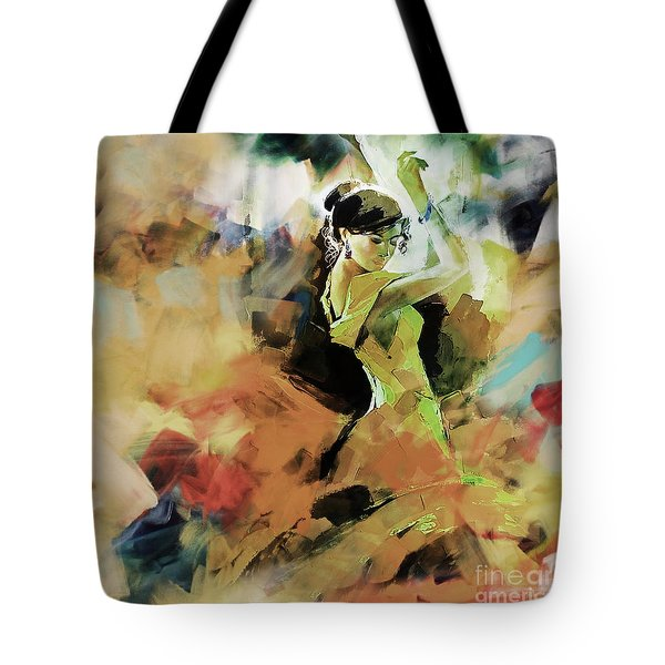 Tote Bag featuring the painting Flamenco 56y3 by Gull G