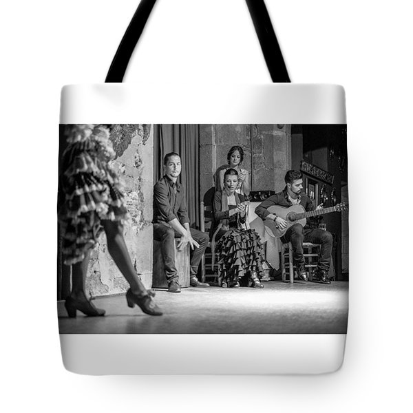 Flamenco At The Palau Dalmases Tote Bag