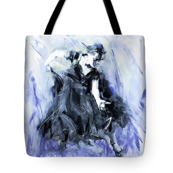 Tote Bag featuring the painting Flamenco Dancer Art 45h by Gull G