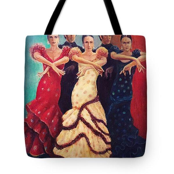 Flamenco Dancers 5 Tote Bag