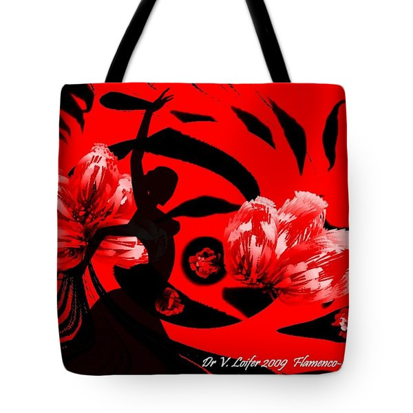 Flamenco-fairy Dance Tote Bag