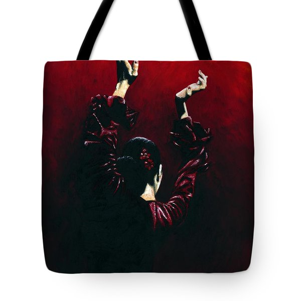Flamenco Fire Tote Bag by Richard Young