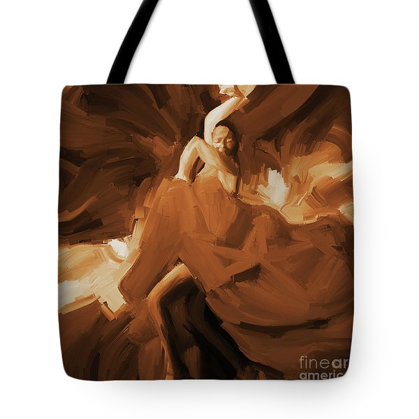 Tote Bag featuring the painting Flamenco Flamenco  by Gull G