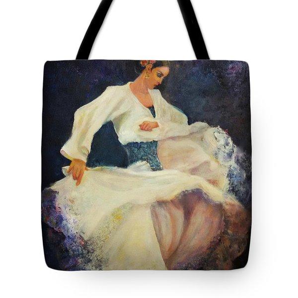 Flamenco In White Tote Bag
