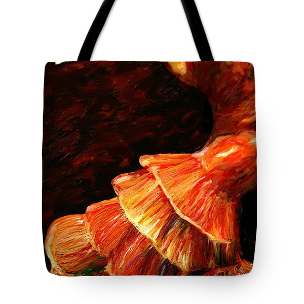 Tote Bag featuring the painting Flamenco Poise 2 by James Shepherd