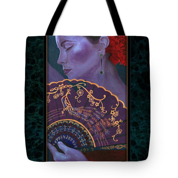 Tote Bag featuring the painting Flamenco  by Ragen Mendenhall