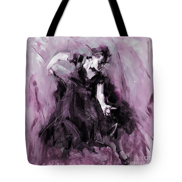 Tote Bag featuring the painting Flamenco Spanish Dance Art by Gull G