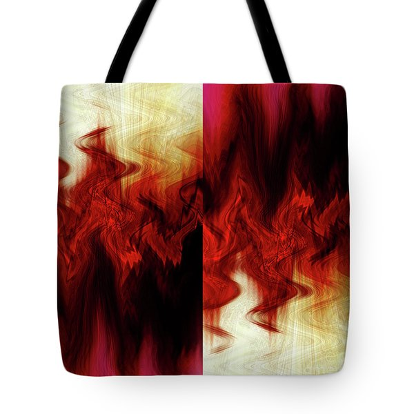 Flames Tote Bag by Cherie Duran