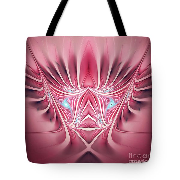 Tote Bag featuring the digital art Flames In My Heart by Jutta Maria Pusl