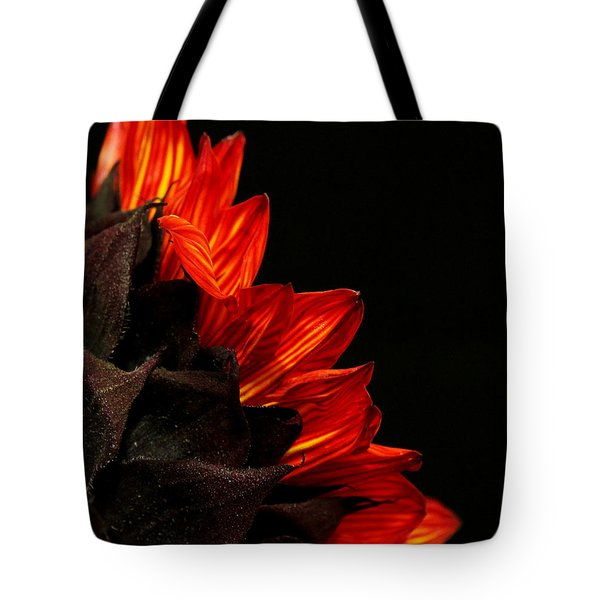 Tote Bag featuring the photograph Flames by Judy Vincent