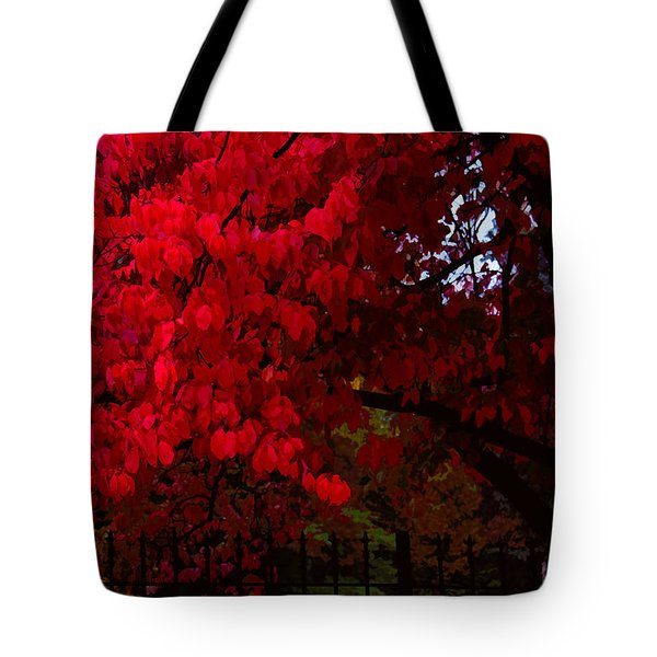 Flames Of Autumn Tote Bag
