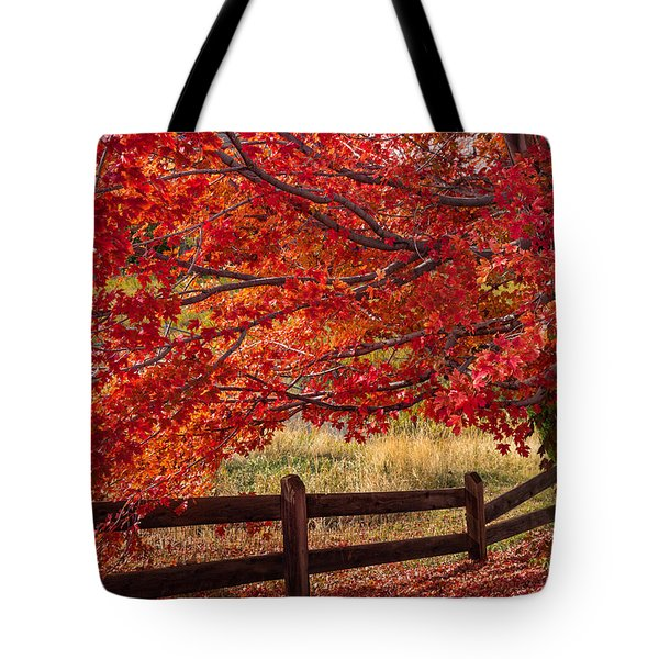 Flames On The Fence Tote Bag