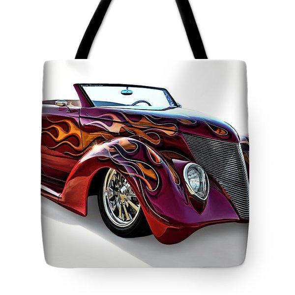 Flamin' Red Roadster Tote Bag