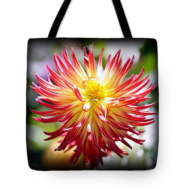 Tote Bag featuring the photograph Flaming Beauty by AJ Schibig