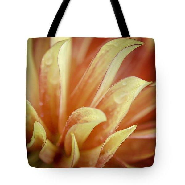 Flaming Dahlia Tote Bag