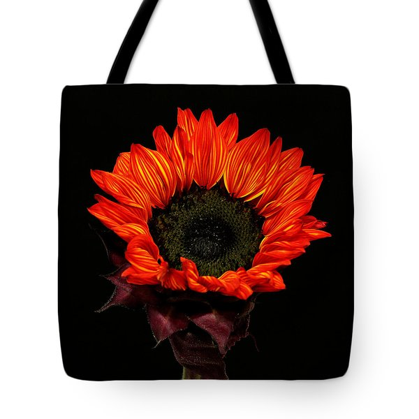 Tote Bag featuring the photograph Flaming Flower by Judy Vincent