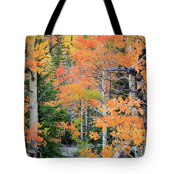 Flaming Forest Tote Bag